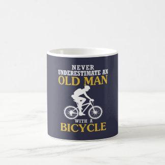 Bicycle Old Man Coffee Mug