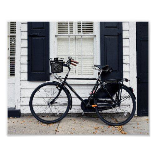 Bicycle on Meeting St, Charleston, South Carolina Poster