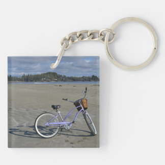 Bicycle on the Beach Keychain