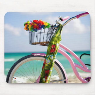 Bicycle On The Beach | Miami, Florida Mouse Pad