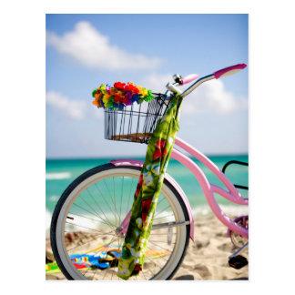 Bicycle On The Beach   Miami, Florida Postcard