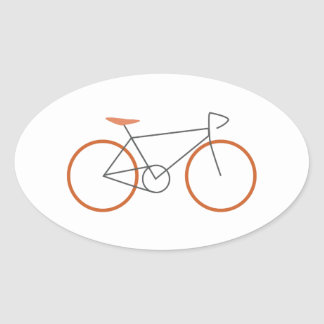 Bicycle Oval Sticker