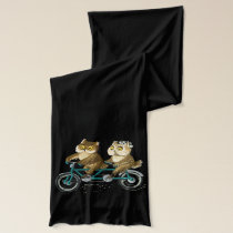 Bicycle owl couple scarf