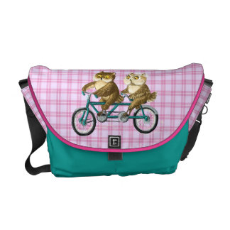 Bicycle owls courier bag