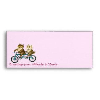 Bicycle owls envelope