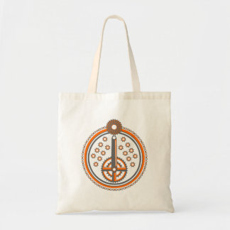 Bicycle Parts Collage Illustration Tote Bag