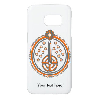 Bicycle Parts Illustration Pattern Samsung Galaxy S7 Case