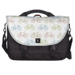 Bicycle Pastel Hipster Pattern Commuter Bag