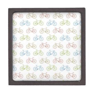Bicycle Pastel Hipster Pattern Keepsake Box