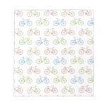 Bicycle Pastel Hipster Pattern Note Pads