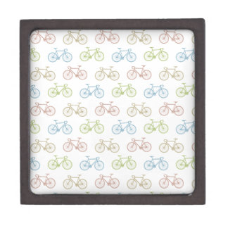 Bicycle Pastel Hipster Pattern Premium Jewelry Boxes