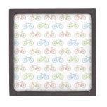 Bicycle Pastel Hipster Pattern Premium Trinket Box