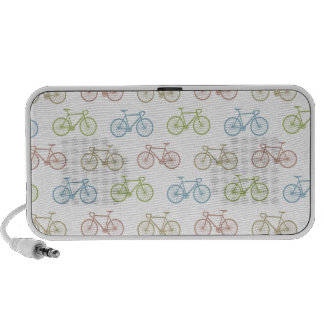 Bicycle Pastel Hipster Pattern Travel Speakers