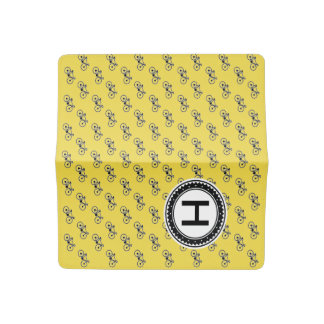 Bicycle Pattern Checkbook Cover