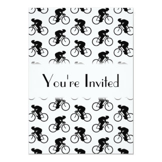 Bicycle Pattern in Black and White. Card