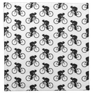 Bicycle Pattern in Black and White. Cloth Napkin