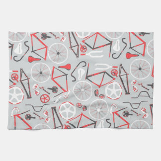 Bicycle Pattern Hand Towels