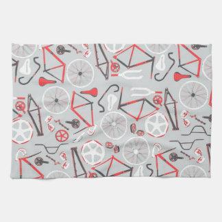 Bicycle Pattern Kitchen Towel