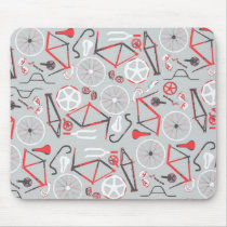 Bicycle Pattern Mouse Pad