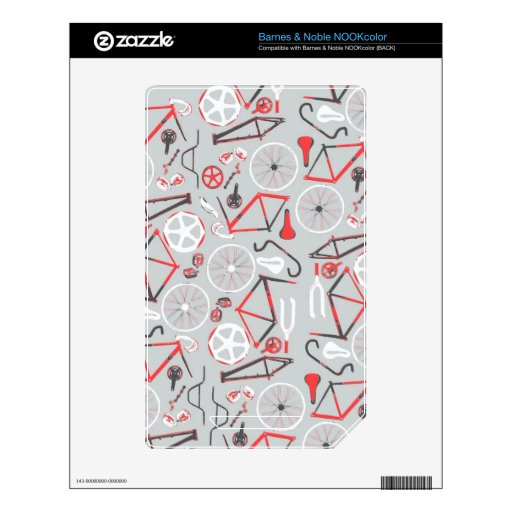 Bicycle Pattern NOOK Color Decals