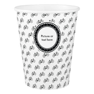Bicycle Pattern Paper Cup