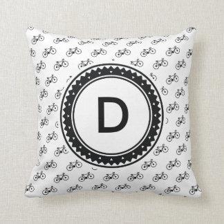 Bicycle Pattern Throw Pillow
