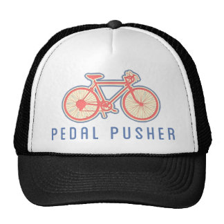 Bicycle Pedaling Pink Trucker Hat