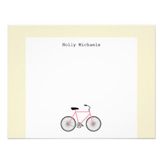Bicycle Personalized Flat Notecard Personalized Invitations