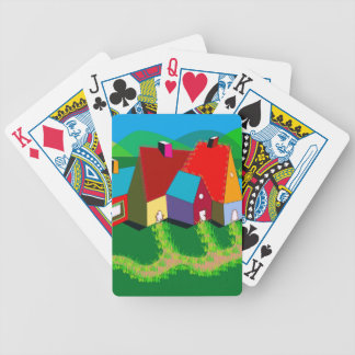 Bicycle Playing Cards with Folk Art