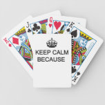 Bicycle® Poker Playing Cards Keep Calm(customize)