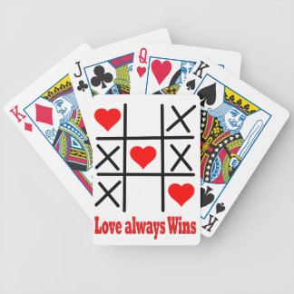 Bicycle® Poker Playing Cards-LOVE ALWAYS WINS