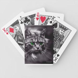 Bicycle® Poker Playing Cards w/CelestialCat-B&W