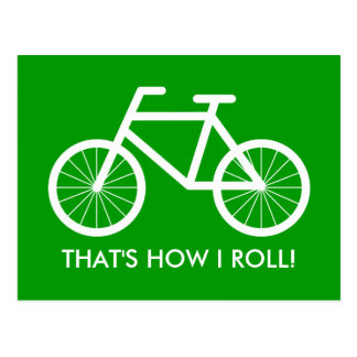 Bicycle postcards with quote | That's how i roll