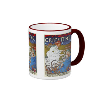 Bicycle Poster Advertisement: Griffiths Cycles Coffee Mug