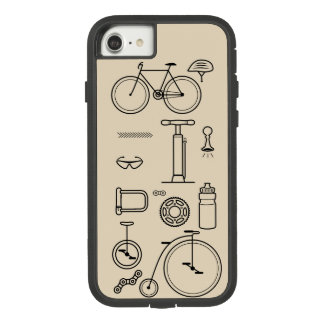 Bicycle Print Cycling Essentials Design Case-Mate Tough Extreme iPhone 8/7 Case