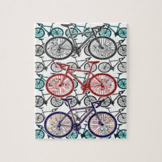 Bicycle Print Design Jigsaw Puzzle