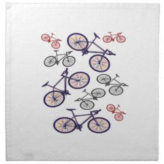 Bicycle Print Design Napkin