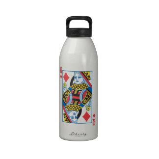Bicycle® Queen of Diamonds Reusable Water Bottle