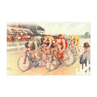 Bicycle Race 1895 Stretched Canvas Print
