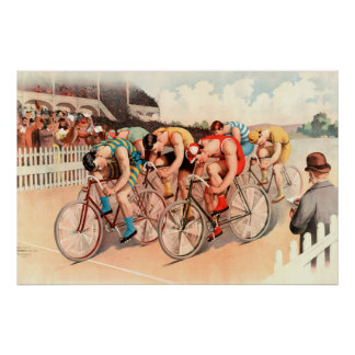 Bicycle Race 1895 Chromolithograph Poster
