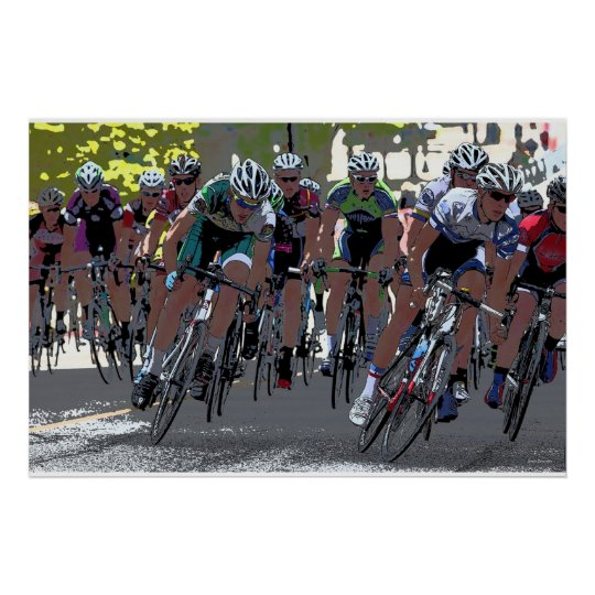 bicycle race 36 x 24 poster. Black Bedroom Furniture Sets. Home Design Ideas