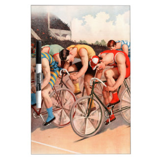 Bicycle Race Dry-Erase Board