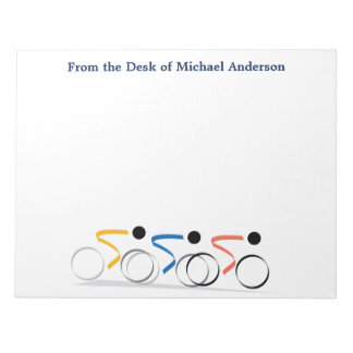 Bicycle Race Logo Personalized Notepad