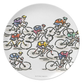 Bicycle Race Melamine Plate