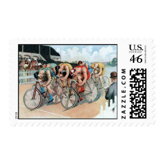 Bicycle Race Stamp
