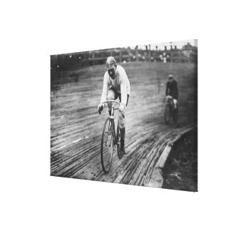 Bicycle Racer at the 6-day Washington DC Race Canvas Print