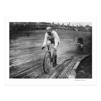Bicycle Racer at the 6-day Washington DC Race Postcard