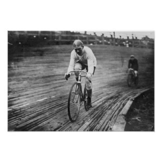 Bicycle Racer at the 6-day Washington DC Race Poster