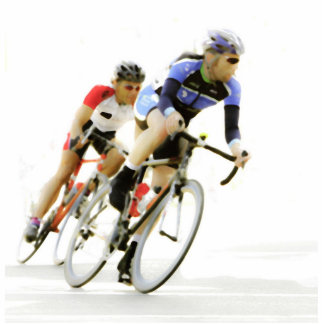 Bicycle Racers -Color -4 Standing Photo Sculpture