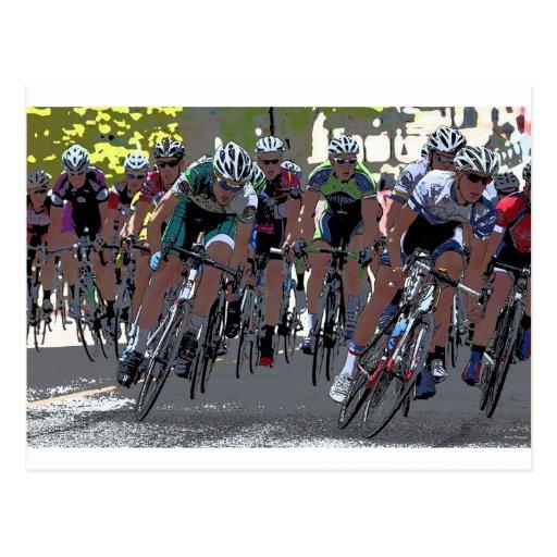 Bicycle Racers Postcard